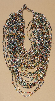 M-07 Collar bolitas colores GRANDE