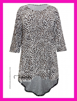 M-3114-PM Camiseta Animal Print manga 3/4.