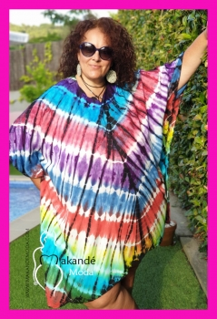 M-2408-M Kaftan Tye-day MULTICOLOR