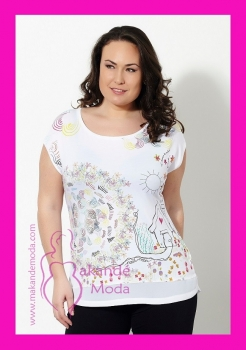 N- 21684 Camiseta Fantasia Blanca