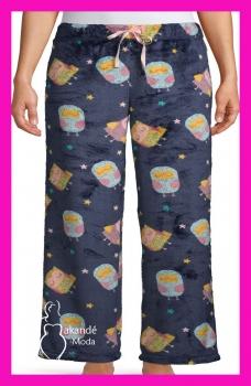 M-1607MB Pantalón Calentito Pijama. MARINO BÚHOS.