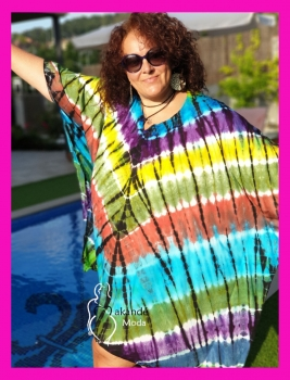 M-2408-M-2 Kaftan Tye-day MULTICOLOR/2
