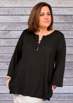 I-4030-N Camiseta lisa ( Negra, Rosa)