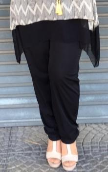 I-599-N Pantalón recto negro (Elastan)