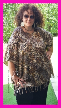 M-2305-TG-1 Poncho Normal print TIGRE 1