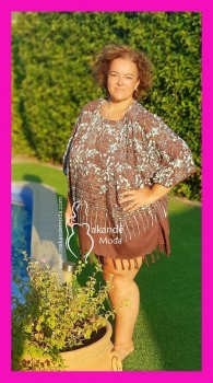 *M-2301-MA-1 Poncho Normal Marron