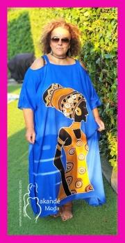 2403-TINTA3-09 Poncho Largo Tirante Tribal TINTA