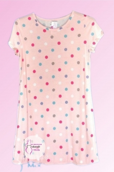 M-7807 Camisola pijama algodón topo rosa