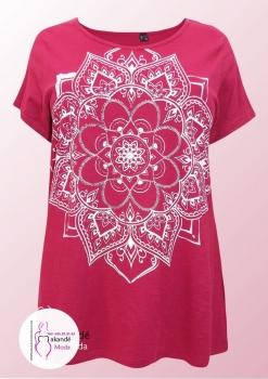 M-3001 Camiseta Étnica. ( Rosa ).