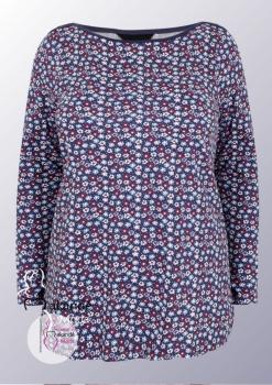M-3108 Camiseta Algodón Flor Púrpura.