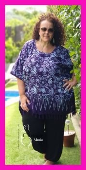 *M-2301-MO Poncho Normal MORADO