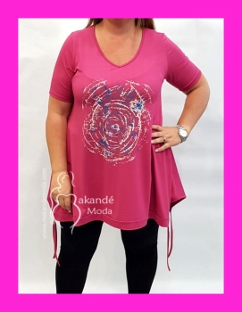 IG-3267-RS Camisetón Espiral ROSA