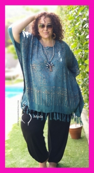 *M-2301-AZ-1 Poncho Normal AZUL